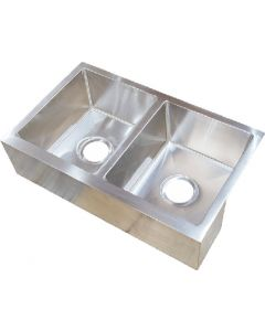 Sink-Ss Double Bowl 27X16X7 - Stainless Steel Farmers Sink