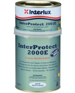 Interlux Interprotect 2000E Epoxy Boat Fiberglass Barrier White, Quart
