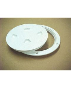 Beckson Screw-Out Deck Plate 8 , White