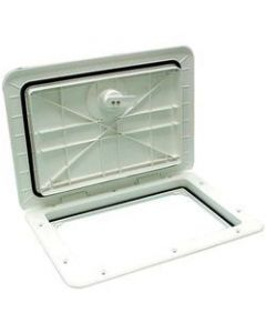 Bomar Inspection Hatch 12-15/16 X10-3/4 , Off White