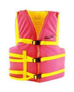 "Seachoice Life Vest, XL Adult, 48""-65"", Orange/Yellow"