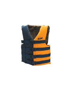 "Seachoice Life Vest, 40"" to 50"", Large/ XL, Navy Blue/Gold"