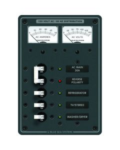 Blue Sea Systems 8409 Breaker Panel 120VAC 5 Position Main