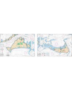 Waterproof Charts Martha's Vineyard & Nantucket,  Massachussets Nautical Marine Charts
