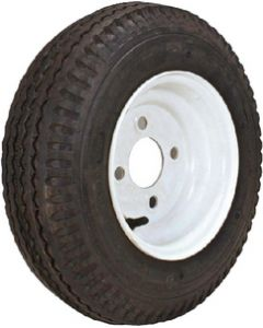 Loadstar Kenda K371 Bias Tire & Wheel Assembly, 480/400-8, LRB, 4 hole