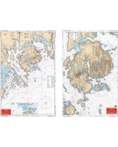 Waterproof Charts Mt. Desert lsland,  Maine & Area Nautical Marine Charts