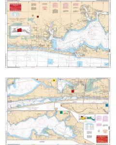 Waterproof Charts Fort Walton Beach to Destin Intracoastal Waterway I.C.W.,  Florida Nautical Marine Charts