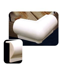 "Taylor Made 6""x6"" 90 Degree Vinyl Corner Bumper, White PVC"