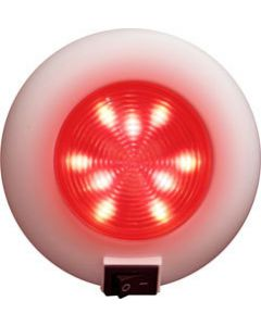 """Seasense 4"""" LED Surface Mount Accent Boat Light, 12 White, 9 Red LEDs with Switch"""