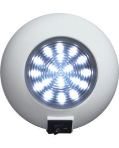 Seasense Super Bright Surface Mount Interior LED Boat Light, 18 White LEDs with Switch