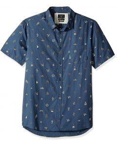 Quiksilver Men's Baja Moment Mini Motif Short Sleeve Shirt