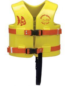 "Super Soft Child 21-23"" Vinyl/Foam Life Jacket/Vest Yellow Type III -Texas Recreation"