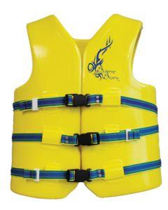 "Super Soft Child 26-29"" Vinyl/Foam Life Jacket/Vest Yellow Type III -Texas Recreation"