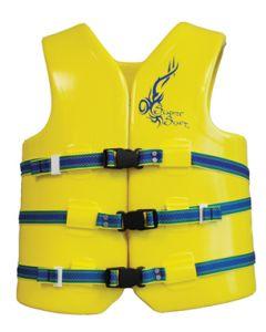 "Super Soft Medium 37-40"" Foam Life Jacket/Vest Yellow Type III -Texas Recreation"