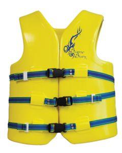 "Super Soft Large 40-43"" Foam Life Jacket/Vest Yellow Type III -Texas Recreation"
