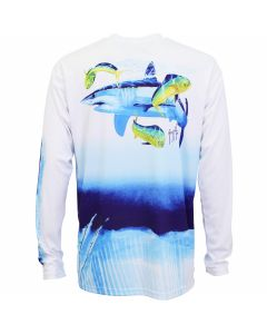 Guy Harvey Mako Shark Mens Long Sleeve Performance