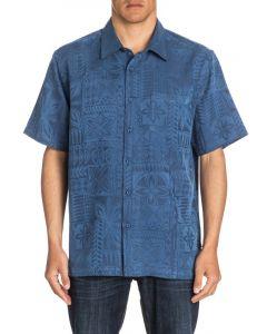 Quiksilver Men's Waterman Aganoa Bay Short Sleeve Shirt
