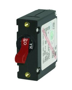 Blue Sea Systems 7217 AC/DC Single Pole Magnetic World Circuit Breaker, 25 Amp