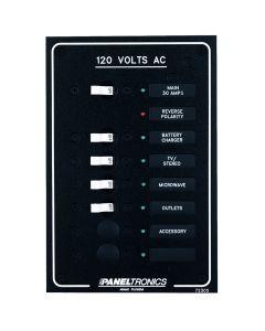 Paneltronics STANDARD AC 6POSITION BREAKER PANEL & MAIN - sku 29773