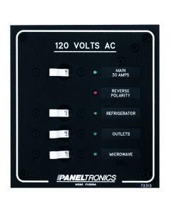 Paneltronics STANDARD AC 3POSITION BREAKER PANEL & MAIN - sku 29777