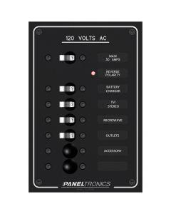 Paneltronics Standard Ac 6position Breaker Panel & Main