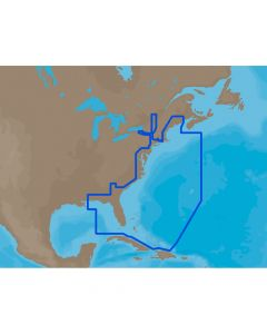 C-Map MAX U.S. East Coast & The Bahamas C-Card Electronic Charts