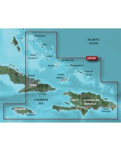 Garmin VUS029R BlueChart g2 Vision Caribbean Southern Bahamas SD Card Nautical Charts