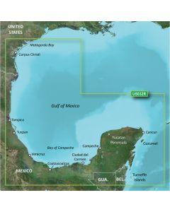 Garmin VUS032R BlueChart g2 Vision Florida Gulf States Southern Gulf of Mexico SD Card Nautical Charts