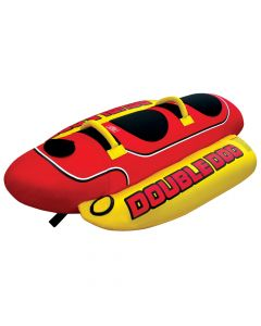 Airhead Double Dog Tube/Towable; 2-Person Capacity