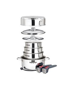 Magma, Nestable 10 Piece Induction Cookware, Grill Accessories