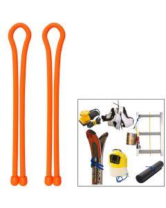 Nite Ize Gear Tie 24 - Bright Orange 2 Pack