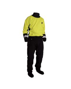 Mustang Survival Water Rescue Dry Suit - LG - Yellow/Black