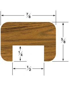 "Whitecap Straight 1/2"" Bulkhead Molding-5/8""H x 7/8""W with 1/2"" Gap, 5' length"