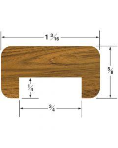 "Whitecap Straight 3/4"" Bulkhead Molding 5/8""H x 1-3/16""W with 3/4"" Gap, 5' length"