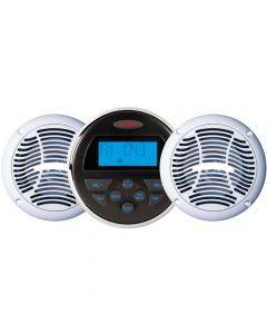 Jensen Audio JENSEN CPM150 AM/FM/USB Bluetooth Stereo & Speakers Package w/MS30BT & AMS602W Speakers