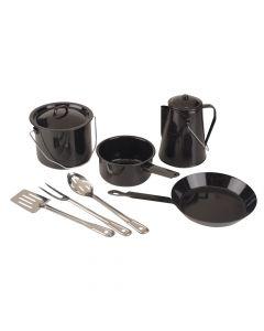 Coleman 8-Piece Enamel Cooking Set Black