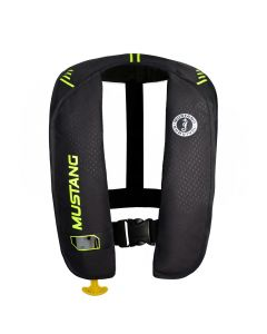 Mustang Survival Mustang MIT 100 Inflatable Manual PFD - Black/Flourescent Yellow-Green