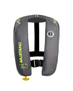 Mustang Survival Mustang MIT 100 Inflatable Manual PFD - Gray/Flourescent Yellow-Green