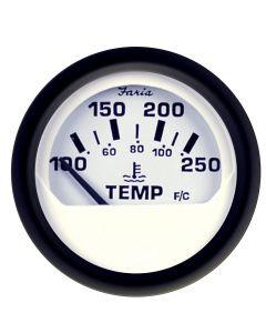 Faria Euro White 2 Water Temperature Gauge (100-250 F)