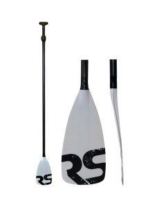 Rave Sports Tempo SUP Paddle - Carbon Fiber Shaft - White