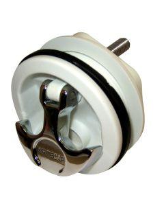 Whitecap T-Handle, Non-Locking, Chrome Handle/White Body