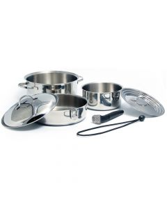 Kuuma 7-Piece Stainless Steel Nesting Cookware Set - Induction Compatible - Oven Safe
