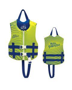 Full Throttle Rapid-Dry Life Vest - Child 30-50lbs - Green/Blue