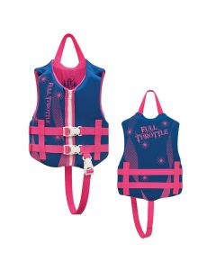 Full Throttle Rapid-Dry Life Vest - Child 30-50lbs - Blue/Pink