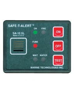 Safe-T-Alert Gas Vapor Alarm, Fume, Fire & Flood/Bilge Water Detector - Surface Mount - Black