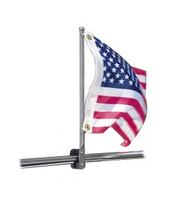 """Taylor Made Rail Mount Pulpit Staff, 7/8"""" to 1-1/4"""" Flag Pole Hardware"""