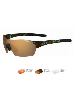 Tifosi Brixen Sunglasses - Blue Tortoise - Brown/AC Red™/Clear