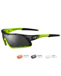 Tifosi Davos Race Neon Sunglasses - Smoke/AC Red™/Clear