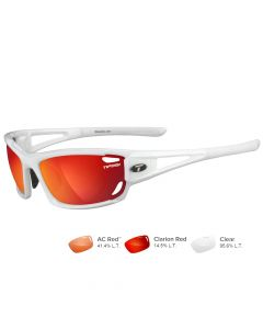 Tifosi Dolomite 2.0 Pearl White Sunglasses - Clarion Red/AC Red™/Clear