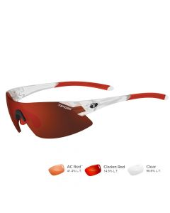 Tifosi Podium XC Matte Crystal Sunglases - Clarion Red/AC Red™/Clear